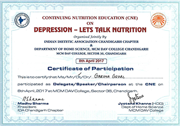 Most Promising Dietician & Nutritionist
